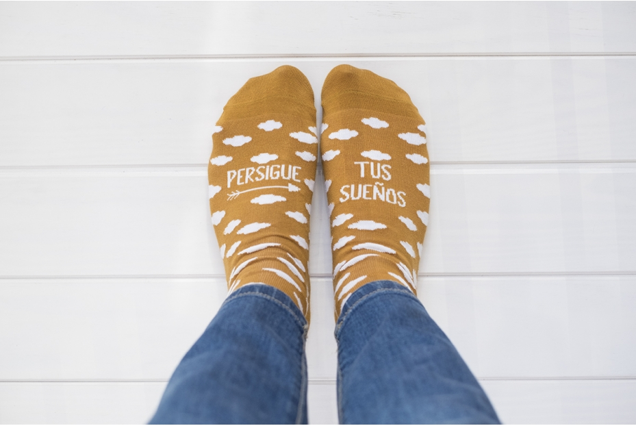 Dulces calcetines para soñadores