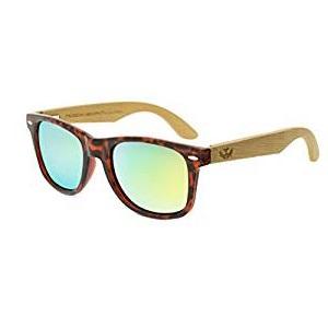 Modernas gafas de sol de madera