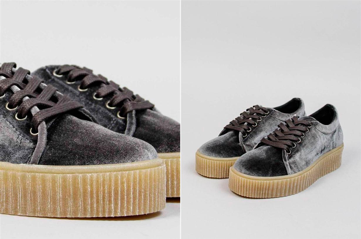 Sneakers de tela y caucho